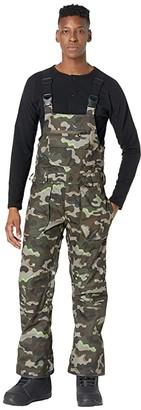 Volcom Snow Roan Bib Overalls (Army Camo) Men's Overalls One Piece