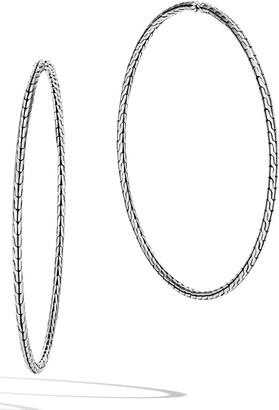 John Hardy Classic Chain Extra Large Hoop Earrings