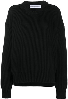 Paco Rabanne Oversized Cable Knit Jumper