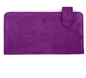 Hiva Atelier Fluctus Suede Wallet Purple