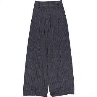 Beaufille Navy Linen Trousers