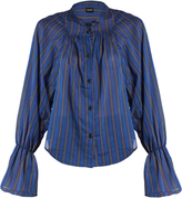 Rachel Comey Union banker-striped cotton-blend shirt