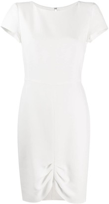 Emporio Armani Gathered-Hem Midi Dress