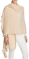 C by Bloomingdale's Cashmere Ruffle Wrap