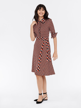 Diane von Furstenberg Milly Silk-Jersey Shirt Dress