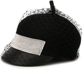 Venna Painter net-overlay felt hat