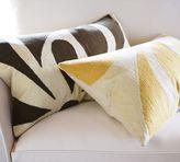 Petal Crewel Lumbar Pillow Cover