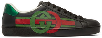 Gucci Black Interlocking G New Ace Sneakers