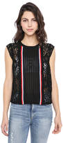 Plenty by Tracy Reese Lace Sport Trim Tank Top
