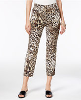 Thalia Sodi Cropped Leopard-Print Pants, Only at Macy's