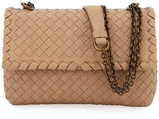 Bottega Veneta Baby Olimpia Intrecciato Leather Shoulder Bag