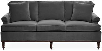 Michael Thomas Collection Garbo Sofa - Charcoal Velvet