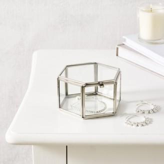 The White Company Hexagonal Trinket Box, Silver, One Size