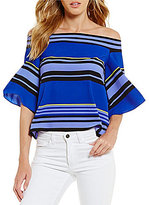 Gianni Bini Emma Striped Off-the-Shoulder Blouse