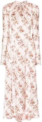 Paco Rabanne high-neck floral print maxi dress