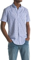 Report Collection End On End Fish Scale Print Sport Shirt - Short Sleeve (For Men)