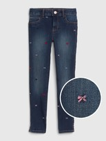 Gap Kids Embroidered Bow Jeggings with Stretch