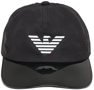 Emporio Armani Logo Print Hat W/ Pvc Visor