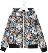 Little Marc Jacobs graffiti print reversible jacket