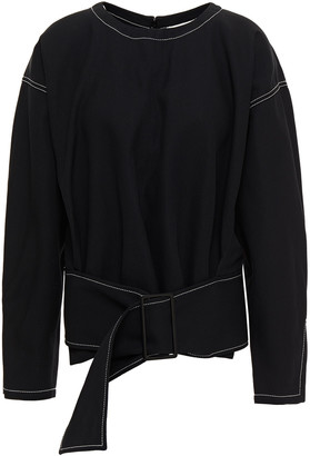 3.1 Phillip Lim Belted Cotton And Wool-blend Twill Top