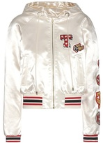 Tommy Hilfiger Satin bomber jacket with appliqué
