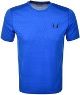 Under Armour Raid Jacquard T Shirt Blue