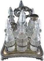 One Kings Lane Vintage Silver & Cut Glass Caster Set, 16-Pcs