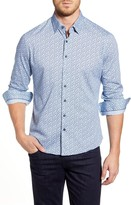 Stone Rose Regular Fit Floral Button-Up Performance Shirt