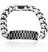 """Creed Men's Two-Tone Stainless Steel Black IP And Rectangle Design ID Plate 8.5"""" Bracelet"""