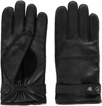 Black Brown 1826 Thinsulate Suede Palm Leather Gloves