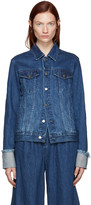 Edit Blue Denim Turn Up Sleeve Jacket