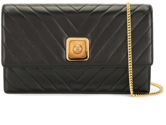 Chanel Pre Owned 1992 Chevron quilt flap clutch
