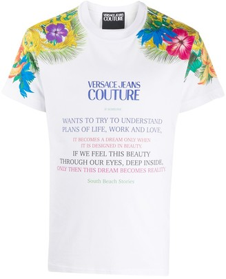 Versace central logo T-shirt