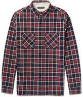 Alex Mill Slim-fit Plaid Brushed Cotton-flannel Shirt