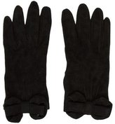 Valentino Silk-Lined Suede Gloves