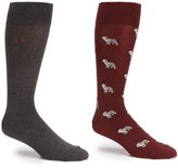Polo Ralph Lauren Big & Tall All-Over Sheepdog Crew Socks 2-Pack