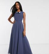 Asos Design DESIGN maxi dress with 3D embellished neckline