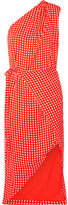 Preen by Thornton Bregazzi Klauber One-shoulder Printed Twill Dress - Tomato red