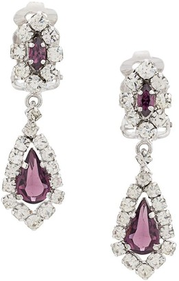 Christian Dior X Susan Caplan 1990's Archive Clip-On Chandelier Earrings