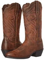 Ariat Round Up R Toe (Dark Toffee) Cowboy Boots