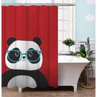 "Your Zone 72"" x 72"" Panda Shower Curtain"