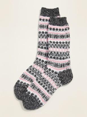 Old Navy Fair Isle Crew Socks for Women