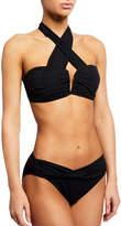 Carmen Marc Valvo V-Wire Halter Bikini Top