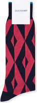 Duchamp Graphic-diamond cotton-blend socks