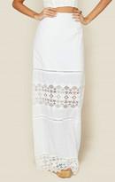 Nightcap Clothing diamond lace maxi skirt