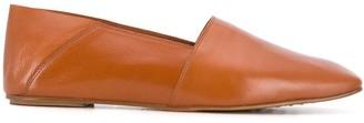Pedro Garcia Leather Square Toe Slippers