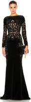 Zuhair Murad Embroidered Velvet Dress