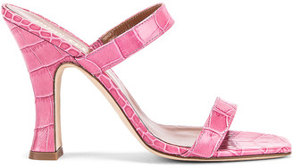 Paris Texas Moc Croco Mule in Fuchsia | FWRD