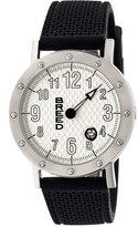 Breed Silver & White Richard One-Hand Watch