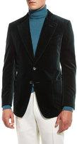 Tom Ford Shelton Base Velvet Sport Jacket, Teal